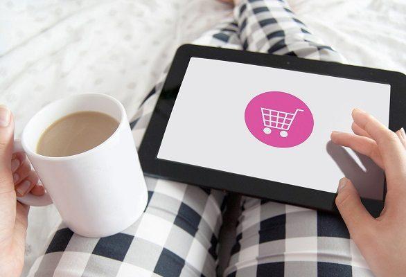 e-zakupy tablet i wózek sklepowy