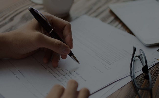 podpis na dokumencie