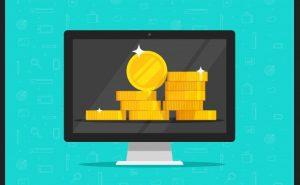 monitor z monetami