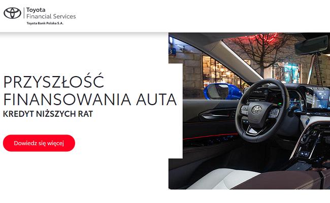 Toyota Financial Services wymienia samochody klientów baner