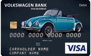 Volkswagen Bank karta płatnicza z garbusem